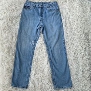 VINTAGE LEE DISTRESSED DAD STYLE JEANS 100% COTTON